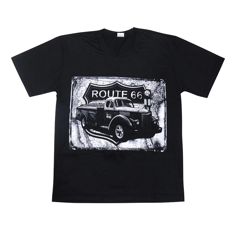 Camiseta Manga Curta em Algodão com Estampa Caminhão Antigo