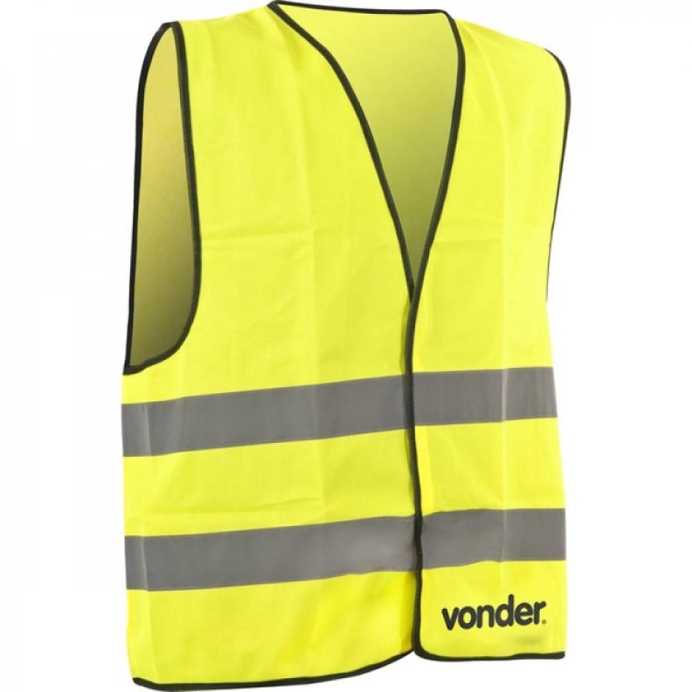 Colete Refletivo Tipo Blusão, sem bolso, amarelo Vonder