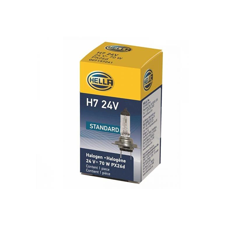 Lâmpada HEL H7 HELLA 24V IODO 70W -PX26D