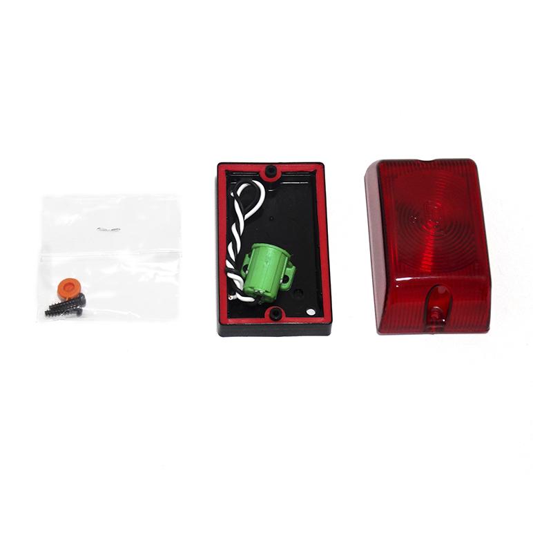 Lanterna Lateral Vermelha - Soquete Interno 1 polo