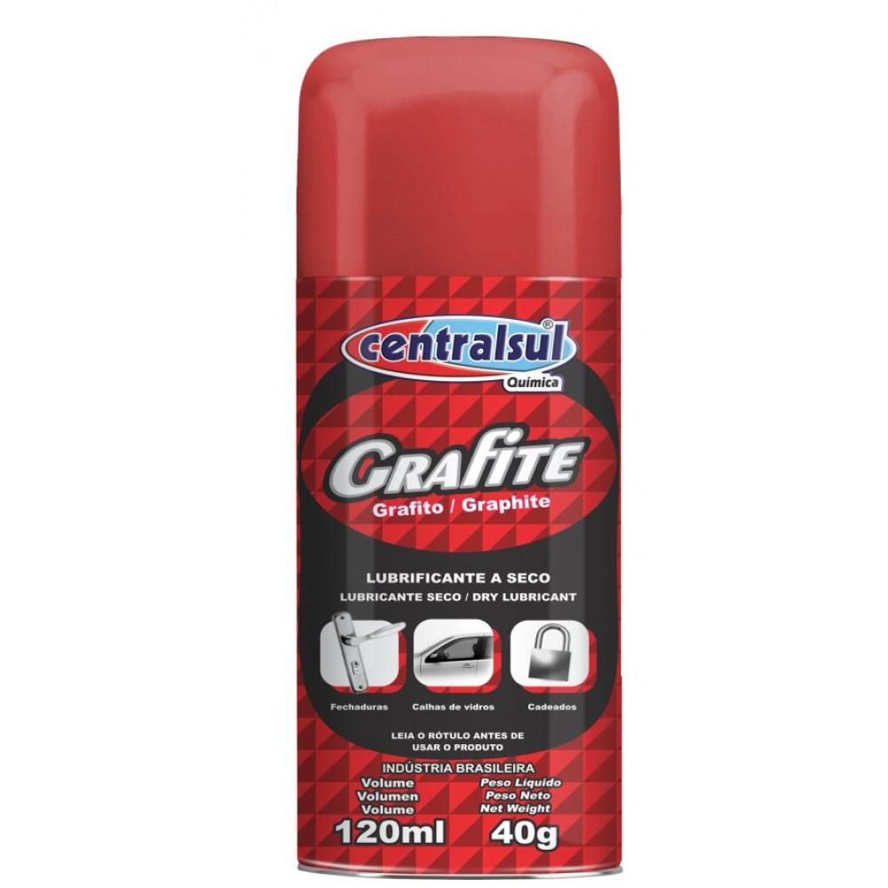 Lubrificante a Seco Grafite Spray - Centralsul 120ml