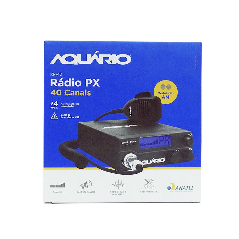 Rádio PX 40 Canais Aquário
