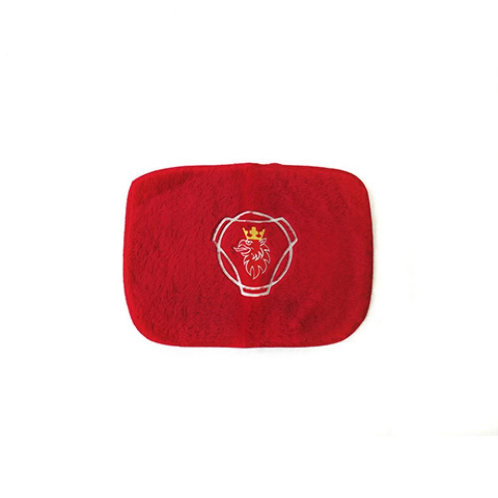 Tapete de pelúcia quadrado vermelho