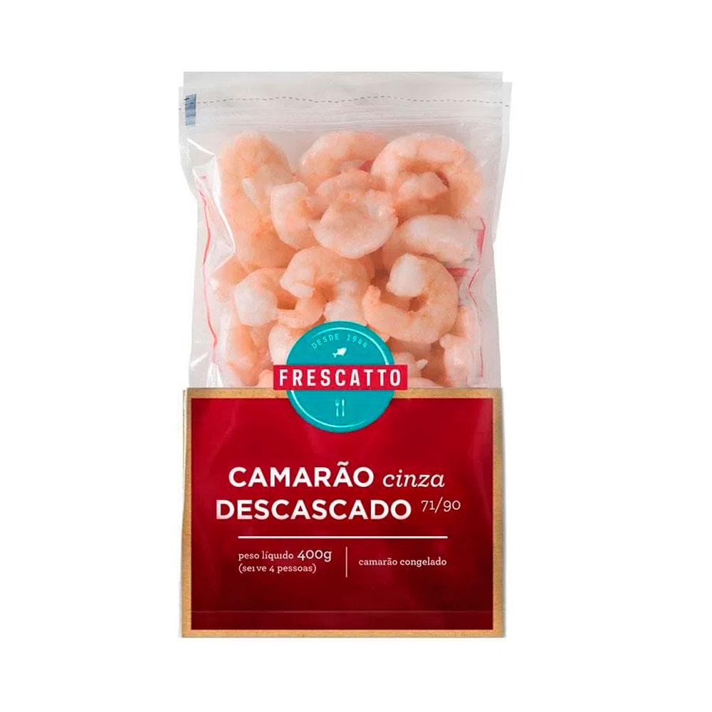 71/90 CAMARAO CINZA DESC. PRE COZIDO FRESCATTO - 400GR