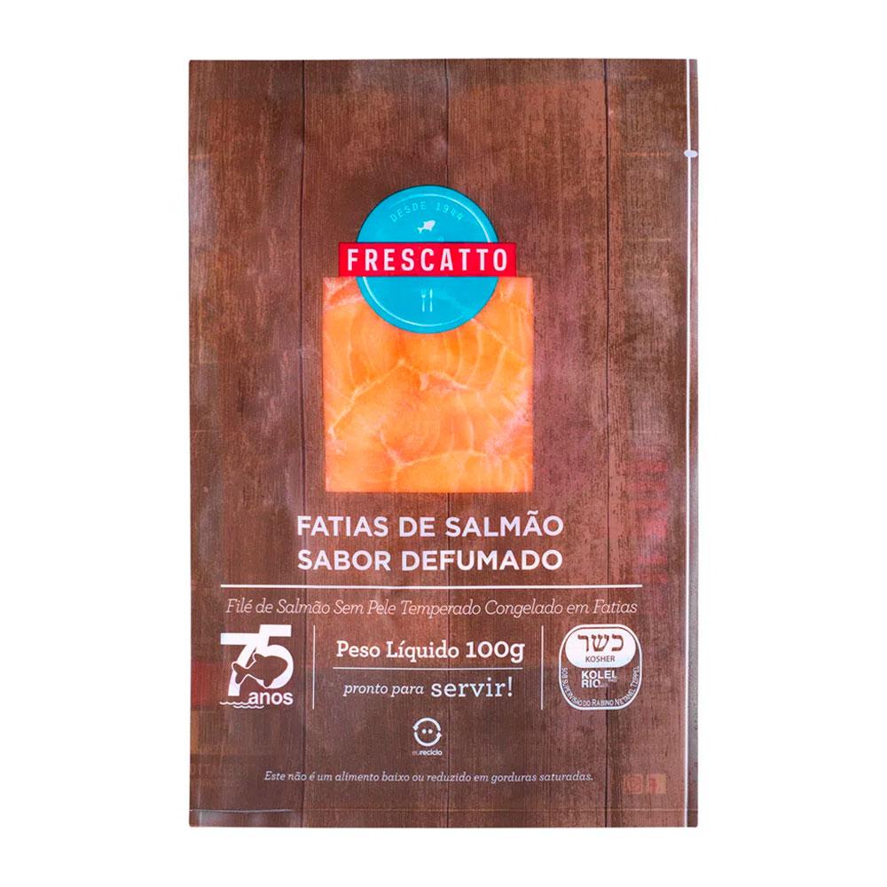 FILE SALMON  FATIADO DEFUMADO FRESCATTO PCT 100GR