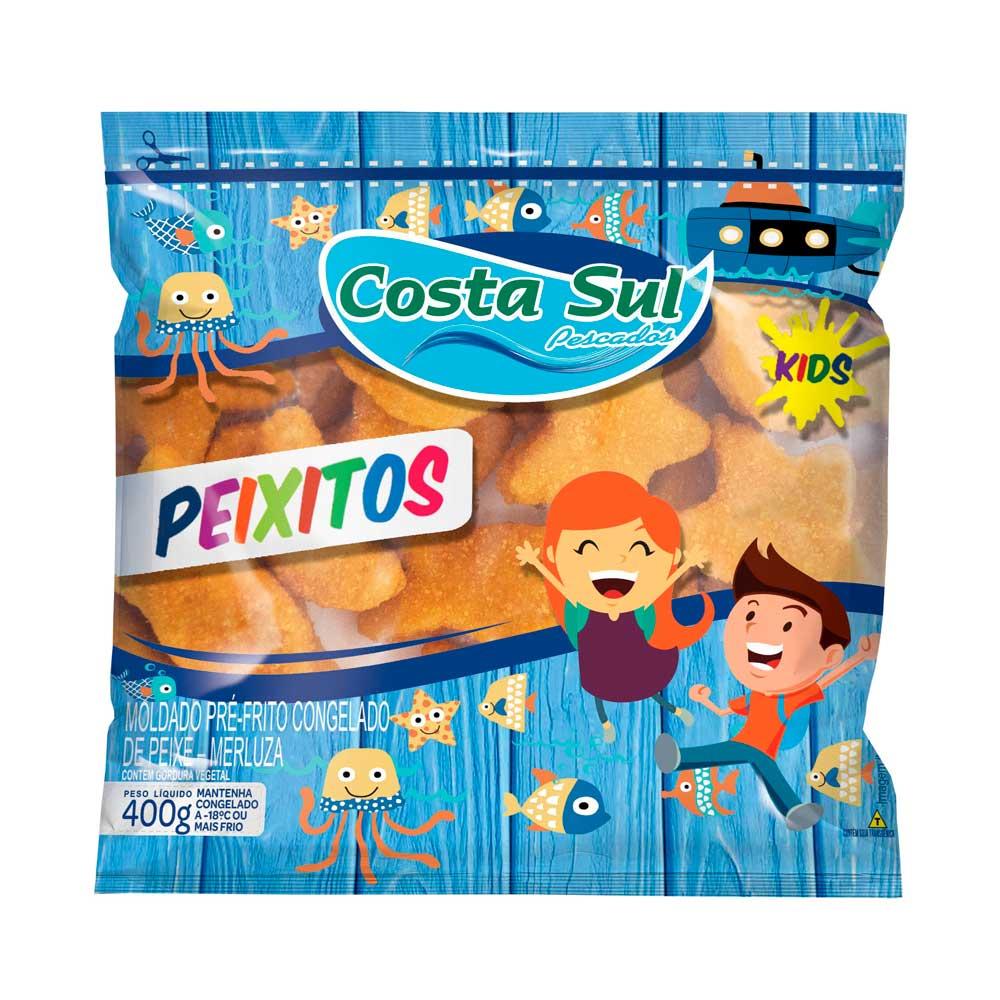 PEIXITOS (MERLUZA EMPANADO) COSTA SUL PCT 400GR