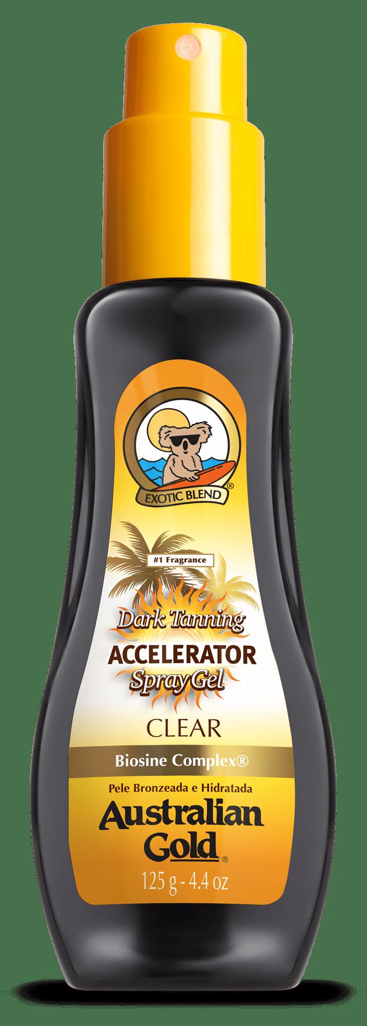 Australian Gold Dark Tanning Accelerator Clear Spray Gel Acelerador de Bronzeado 125gr