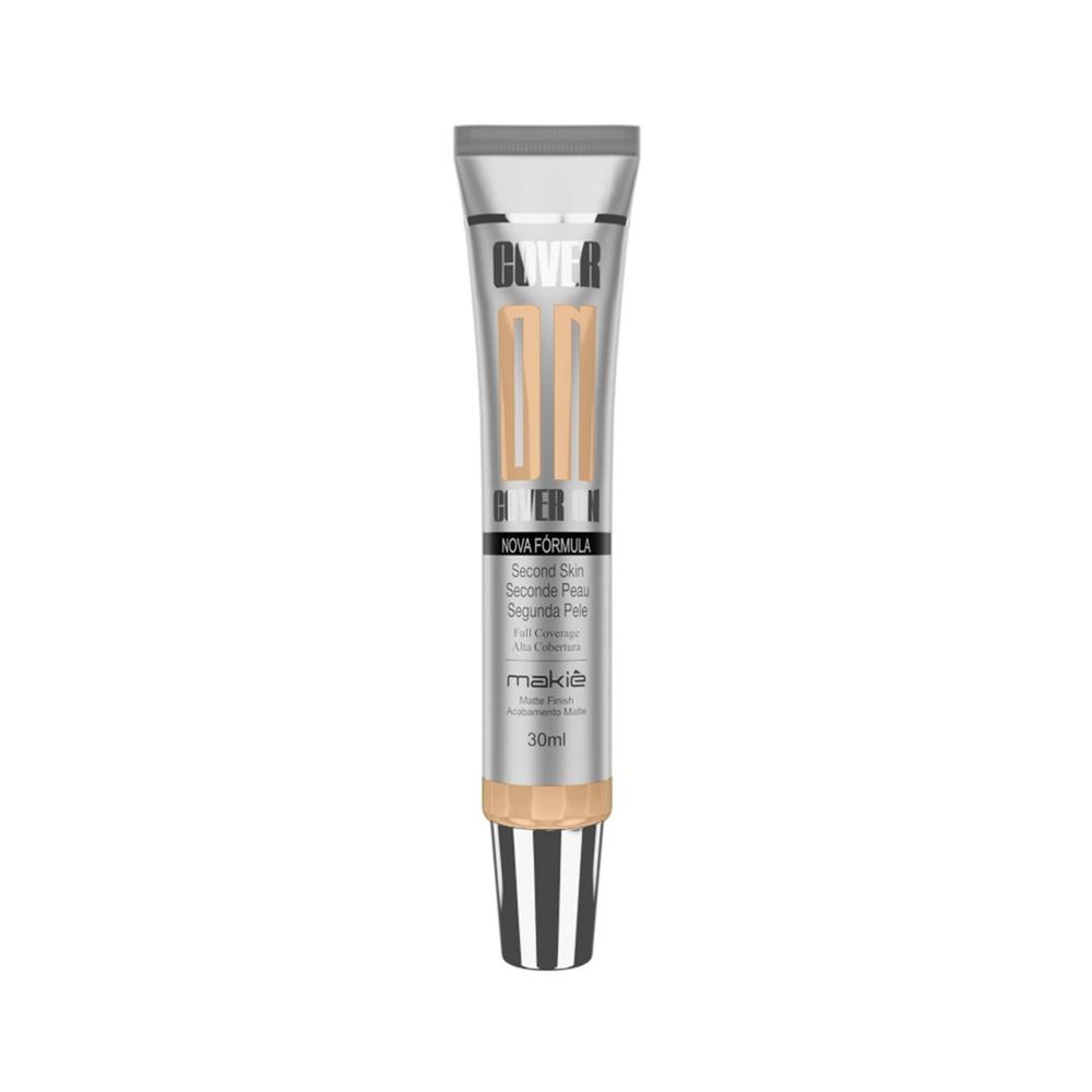 Base Líquida Facial Makiê Cover On Para Pele Clara Média Escura à Prova D'água Vários Tons Matte