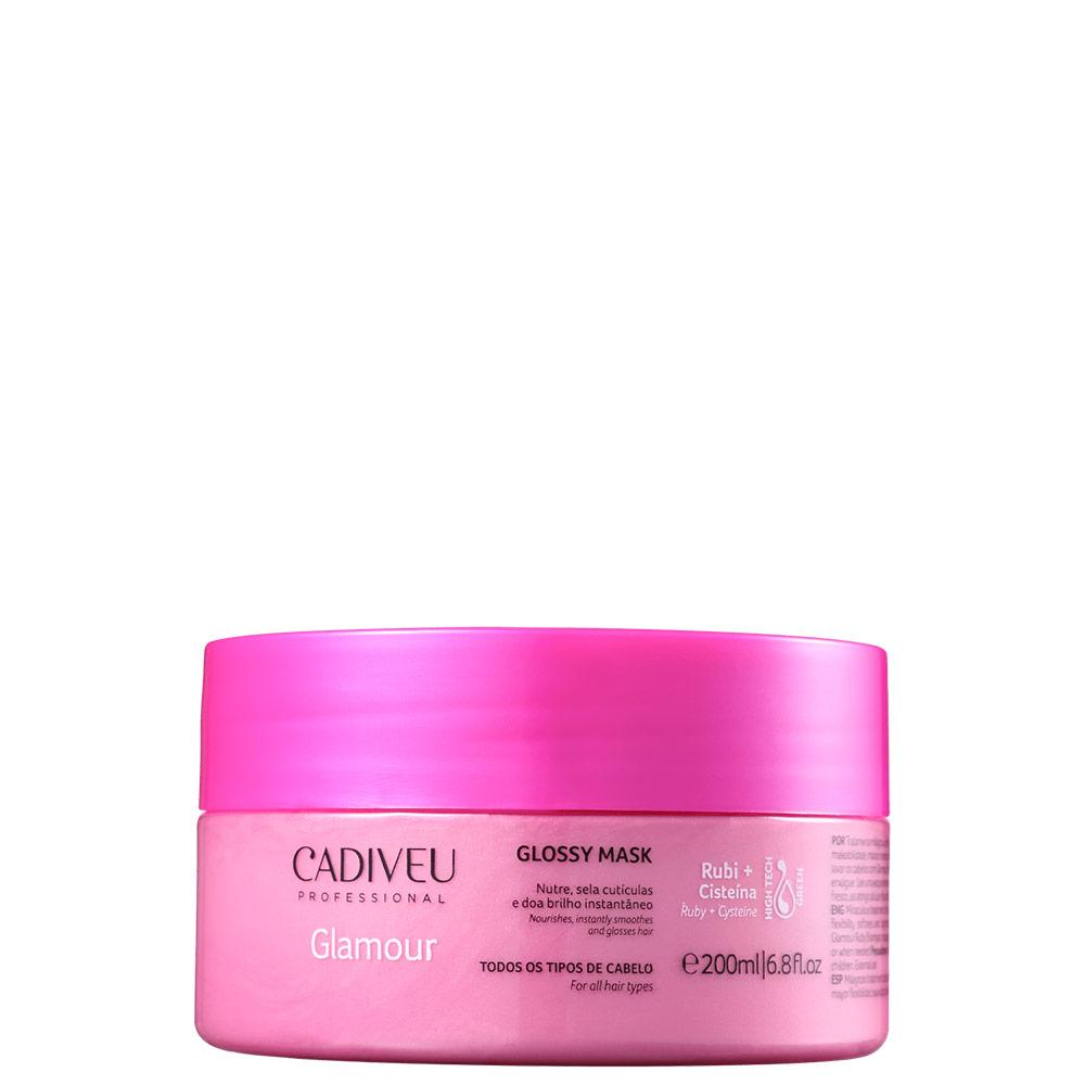Cadiveu Professional Glamour Rubi Glossy - Máscara Capilar 200ml