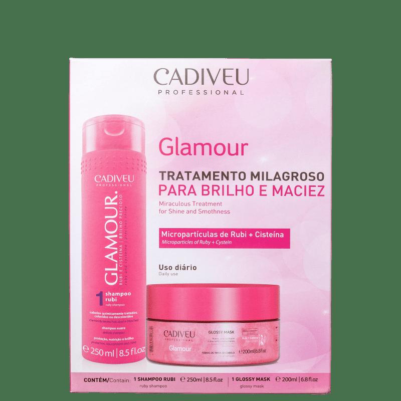 CADIVEU PROFESSIONAL Kit Glamour Glossy Rubi Home Care (2 Produtos)