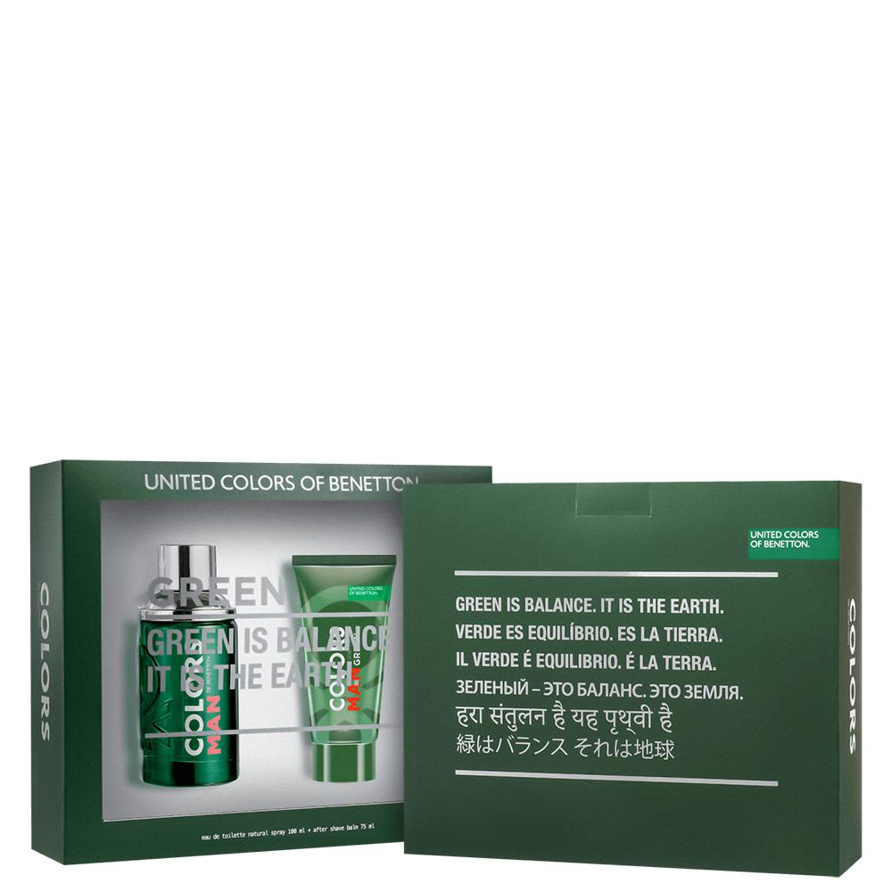Conjunto Colors Man Green Beard Benetton Masculino - Eau de Toilette 100ml + Pós-Barba 75ml