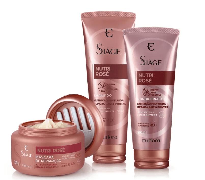 Eudora Siáge Nutri Rosé Home Care (3 Produtos)