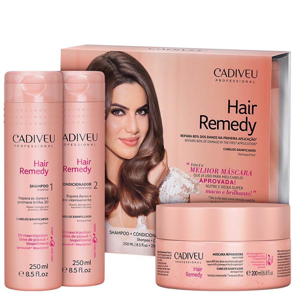 Kit Cadiveu Professional Hair Remedy Reparador (3 Produtos)