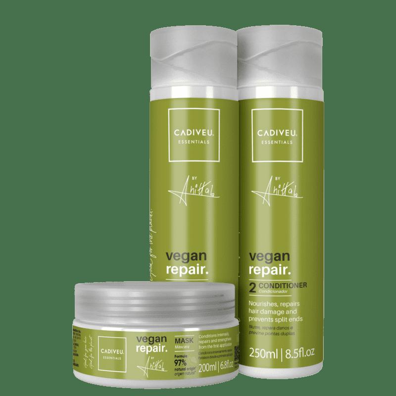 KIT CADIVEU PROFISSIONAL Essentials Vegan Repair by Anitta Trio (3 Produtos)