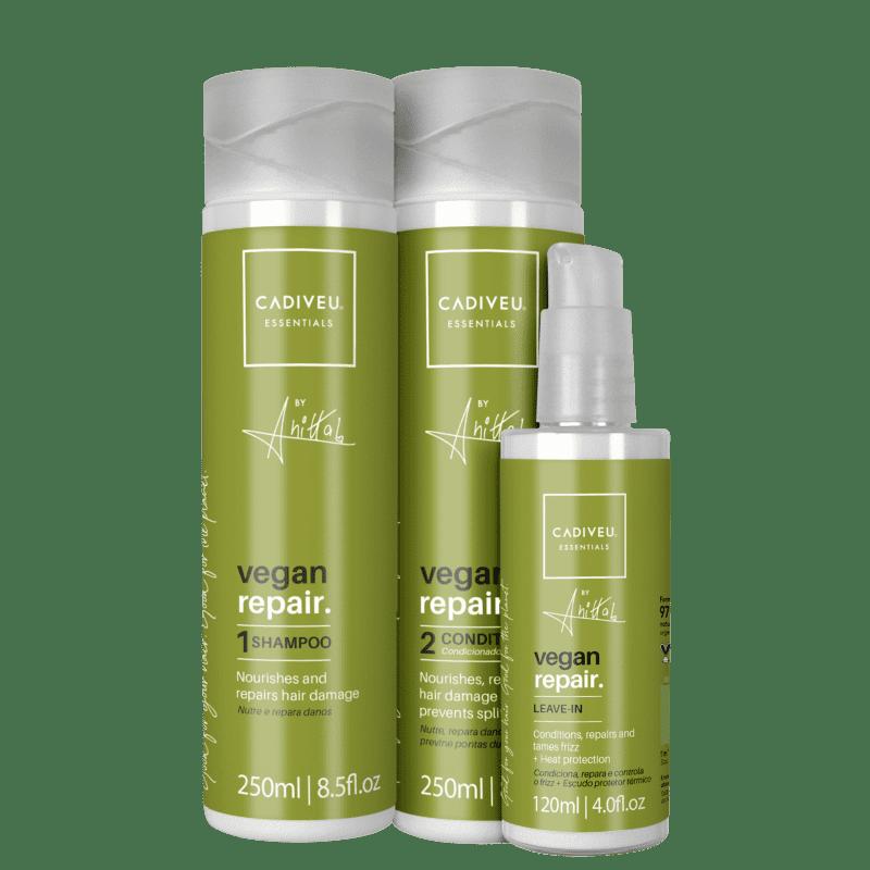 KIT CADIVEU PROFISSIONAL Essentials Vegan Repair by Anitta Triplo (3 Produtos)