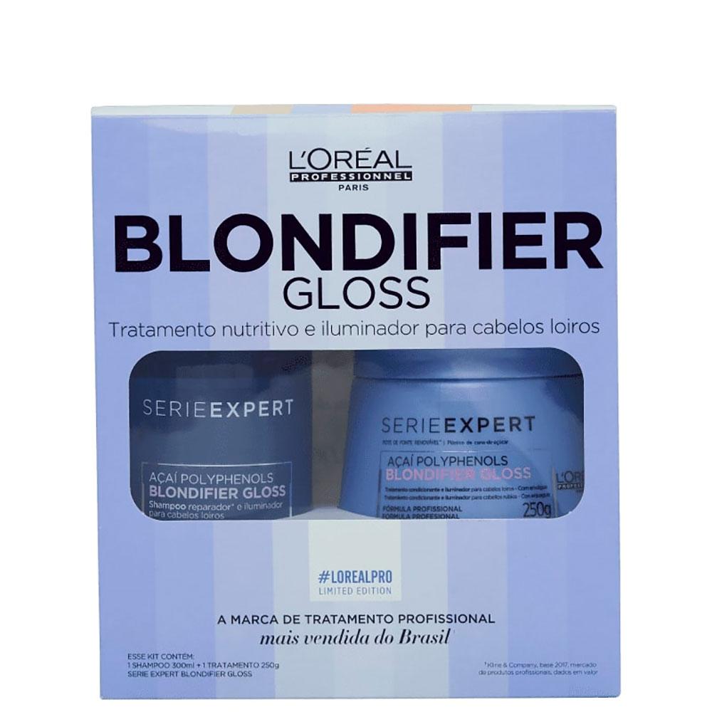 Kit Coffret Loreal Blondifier Gloss (sh300ml + Masc250gr)