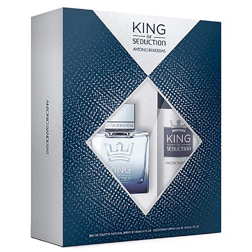 Kit King of Seduction Antonio Banderas - Eau de Toilette 100ml + Desodorante 150ml