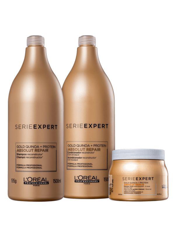 KIT L'ORÉAL PROFESSIONNEL Gold Quinoa + Protein Golden Salon Trio