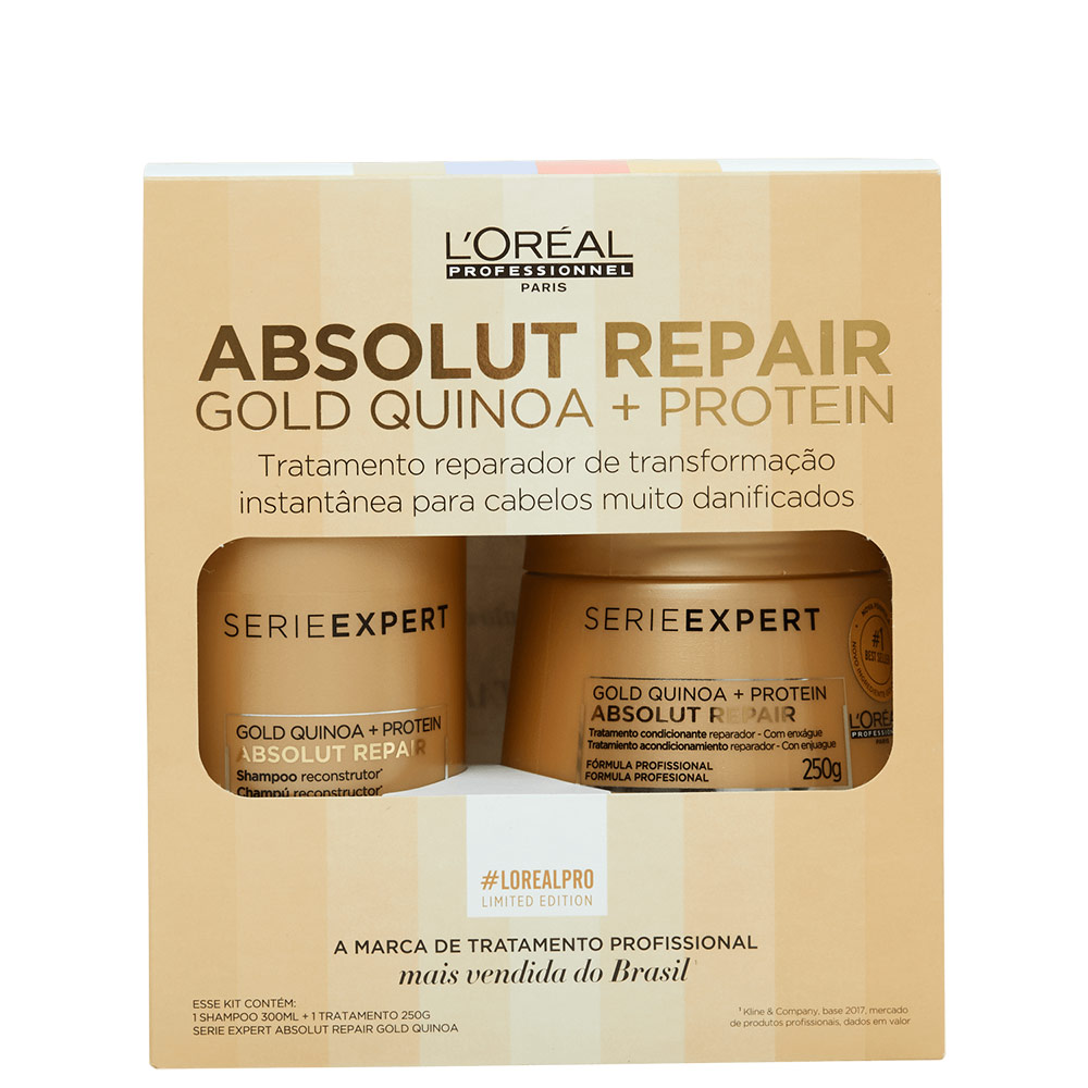 Kit L'Oréal Professionnel Serie Expert Absolut Repair Gold Quinoa + Protein Treatment (2 Produtos)