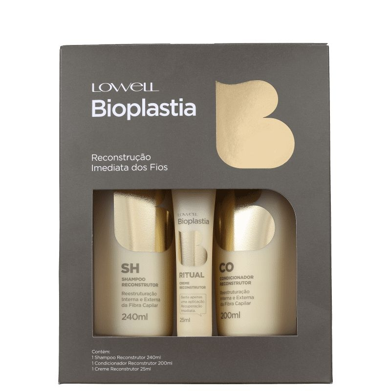 KIT LOWELL Bioplastia Capilar Home Care (3 Produtos)