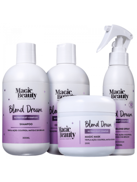 KIT MAGIC BEAUTY Blond Dream Completo (4 Produtos)