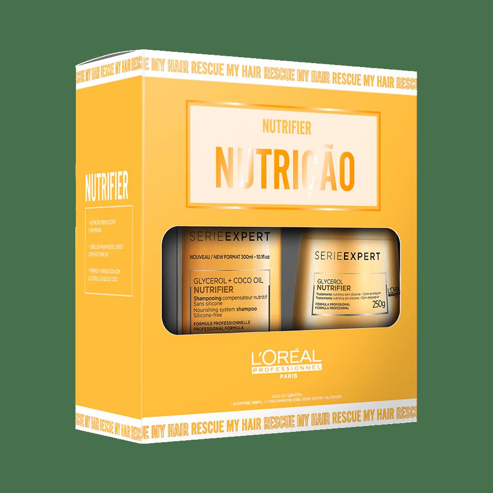 Kit Nutrição Loreal Professionnel Nutrifier Shampoo e Máscara