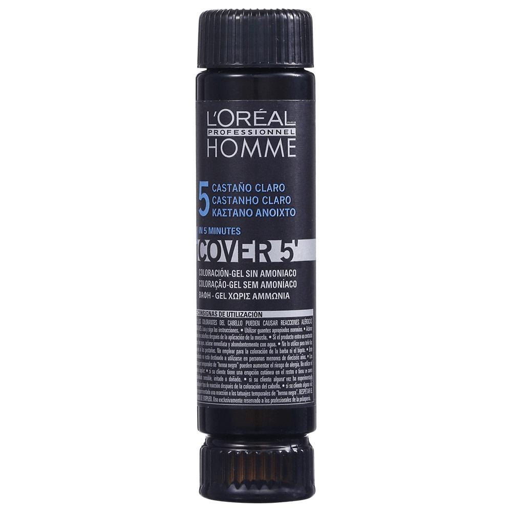 L'Oréal Professionnel Homme Cover 5 Castanho Claro 5 - Coloração 1x50ml