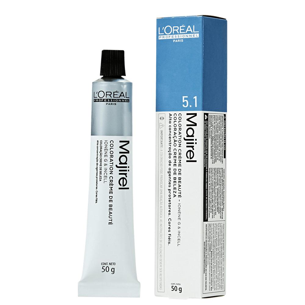 L'Oréal Professionnel Majirel 5.1 Castanho Claro Acinzentado - Coloração 50g