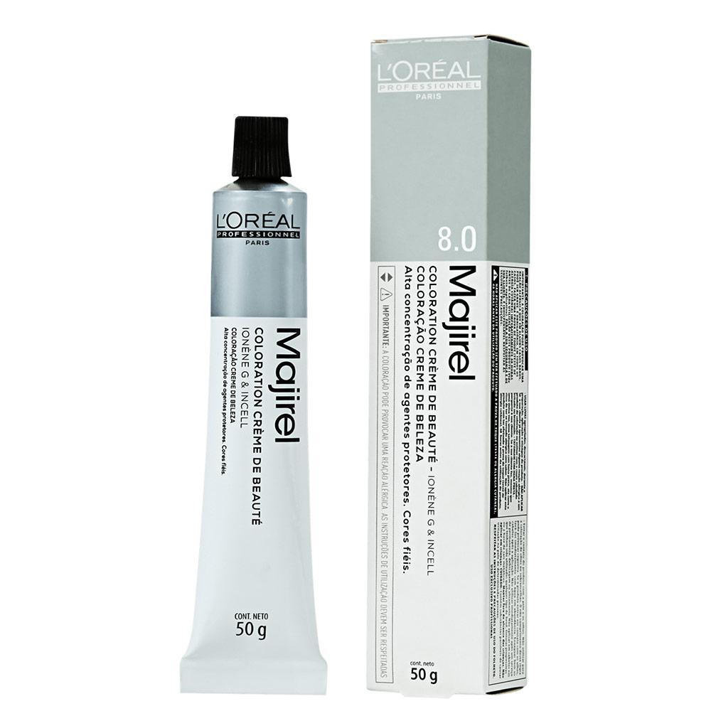 L'Oréal Professionnel Majirel 8.0 Louro Claro Natural Profundo - Coloração 50g