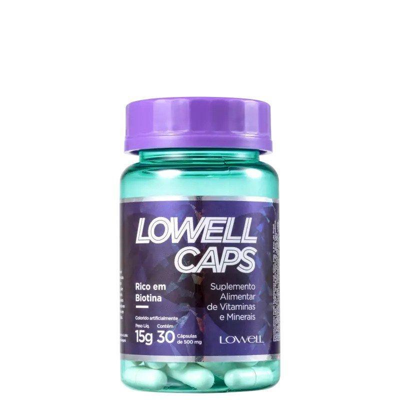 LOWELL Caps Biotina - Suplemento Alimentar 30x15gr