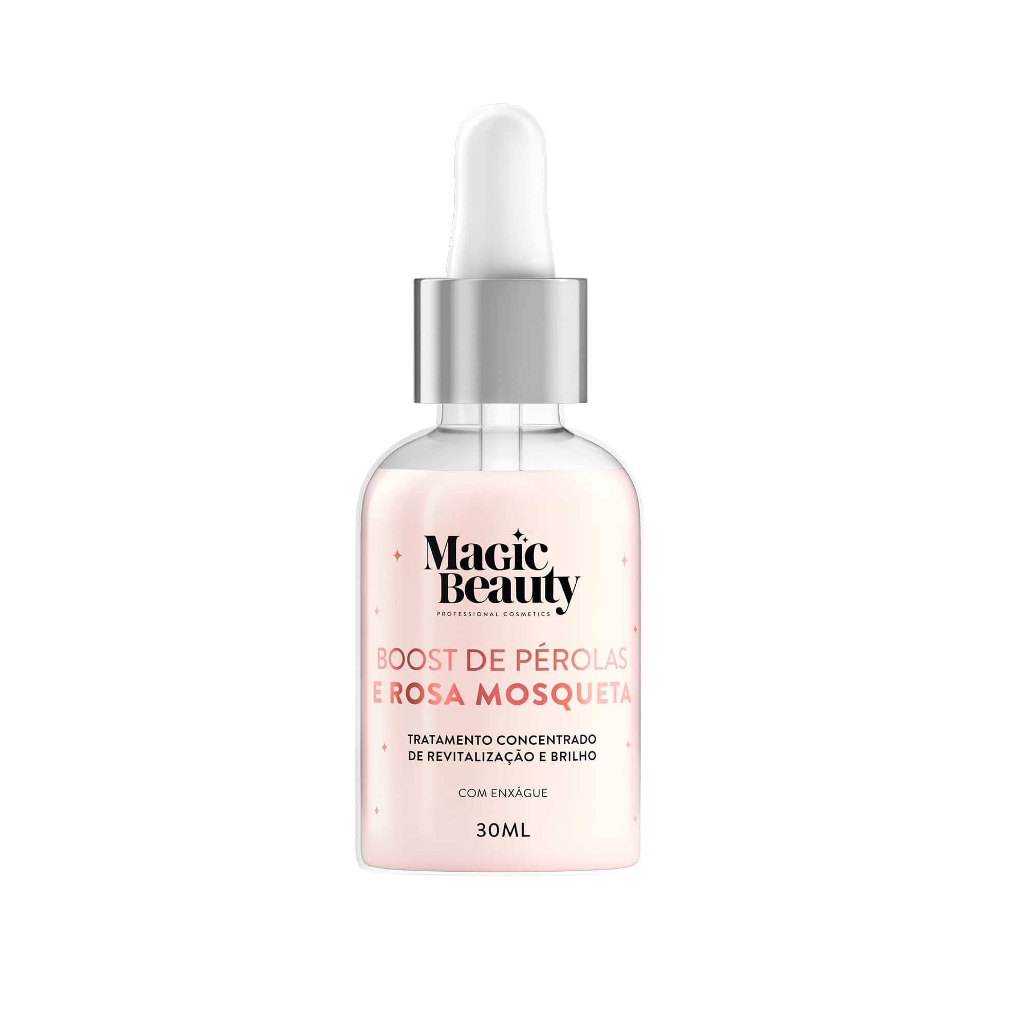 Magic Beauty Crystal Glow Boost de Pérolas e Rosa Mosqueta 30ml