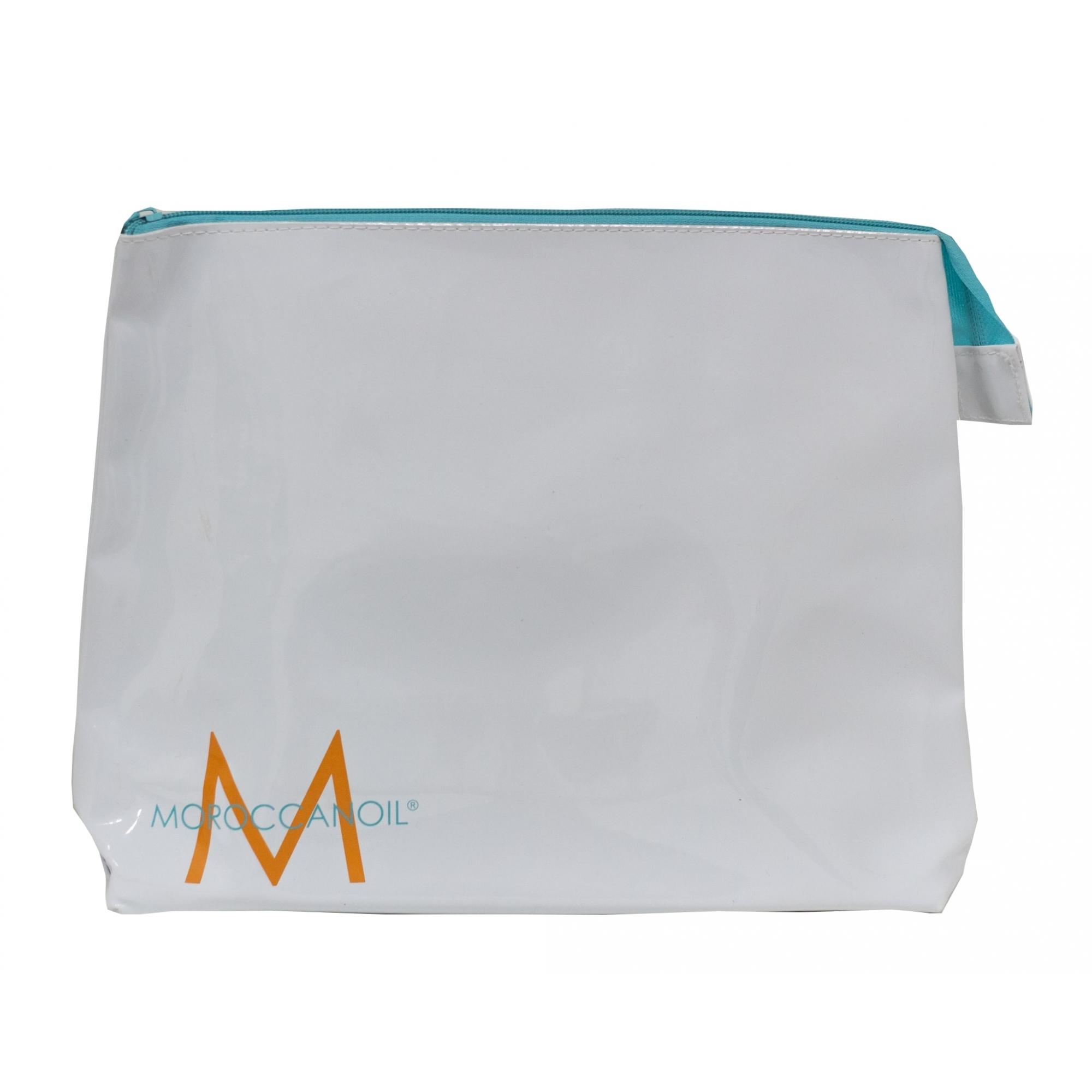 Moroccanoil Necessaire Branca com zíper azul