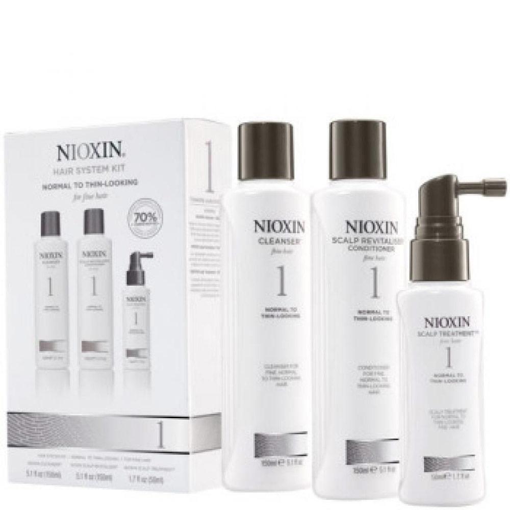 Nioxin Cresce Cabelo Kit Para Cabelo Fino 1 (3 Produtos)