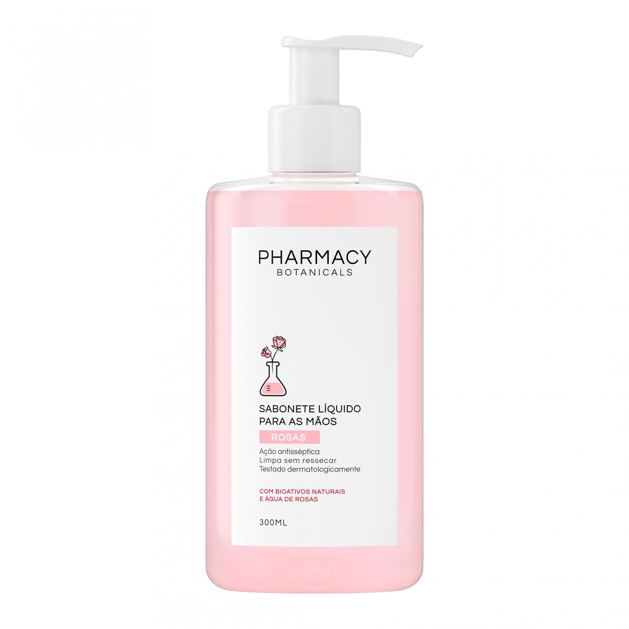 Pharmacy Botanicals Rosas Sabonete Líquido para mãos Antisséptico 300ml