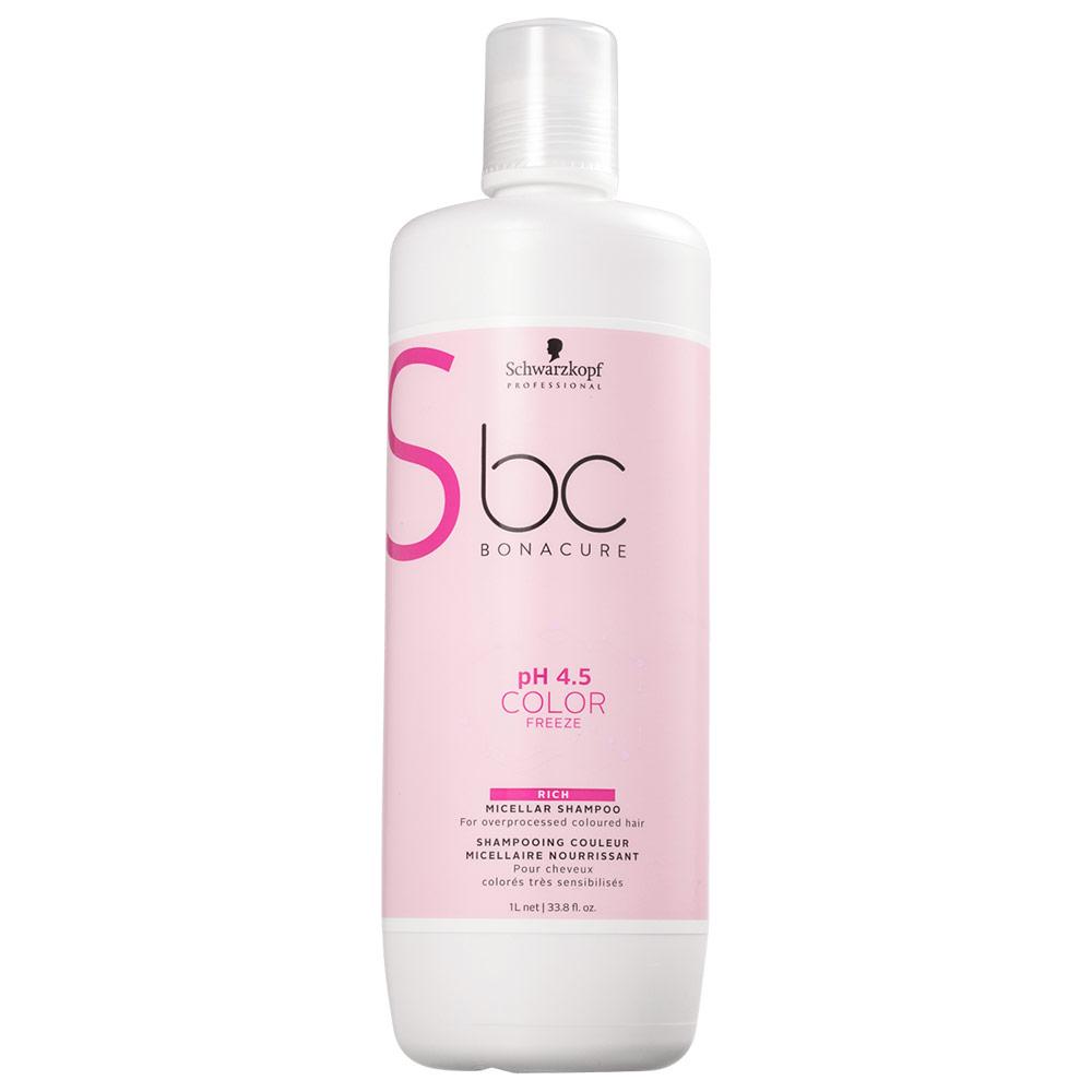 Schwarzkopf Professional BC Bonacure pH 4.5 Color Freeze Micellar Rich - Shampoo 1000ml