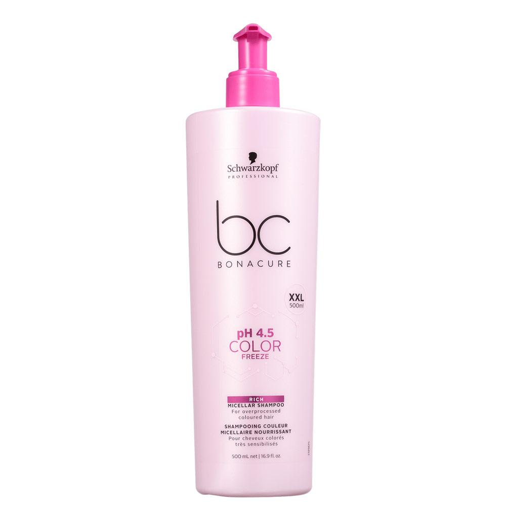 Schwarzkopf Professional BC Bonacure pH 4.5 Color Freeze Micellar Rich - Shampoo 500ml