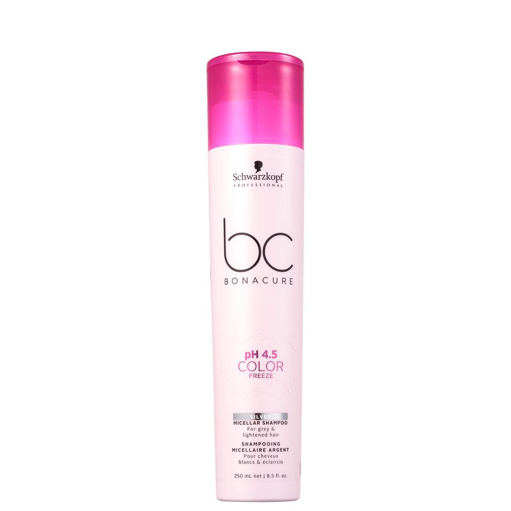Schwarzkopf Professional BC Bonacure pH 4.5 Color Freeze Micellar Silver - Shampoo Desamarelador 250ml