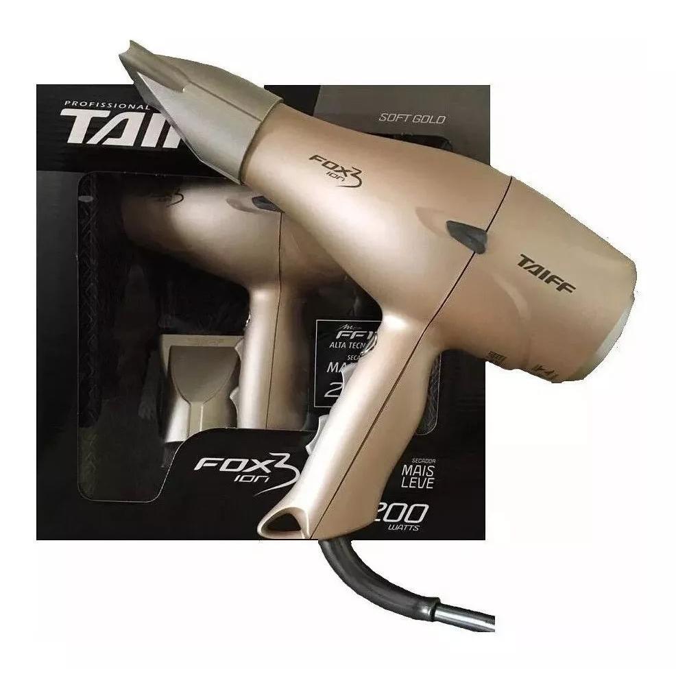 Secador de Cabelo TAIFF Dourado Fox Íon 2 Potência 2200 Watts Emissão Íons