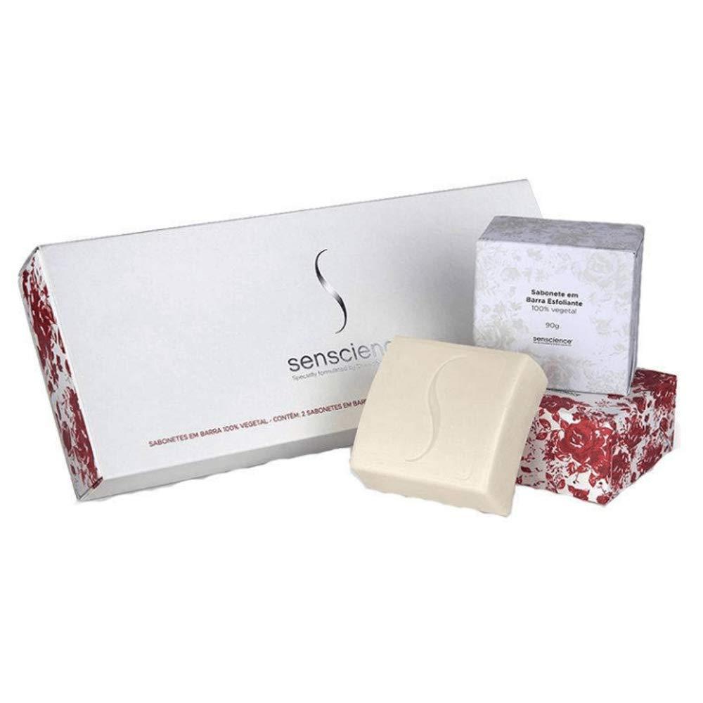 SENSCIENCE Trio sabonete hidratante e esfoliante 3x1 90gr