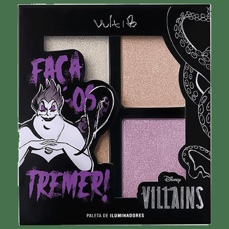 Vult Disney Paleta de Iluminador Villains Ursula  Faça os Tremer! 14gr