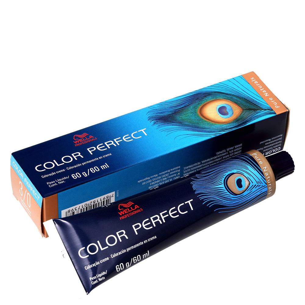 Wella Professionals Color Perfect 3/0 Castanho Escuro - Coloração Permanente 60g
