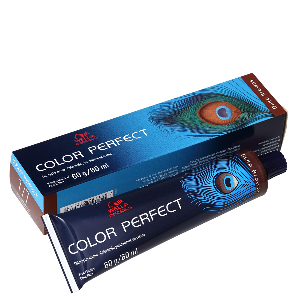 Wella Professionals Color Perfect 7/7 Louro Médio Marrom - Coloração Permanente 60g