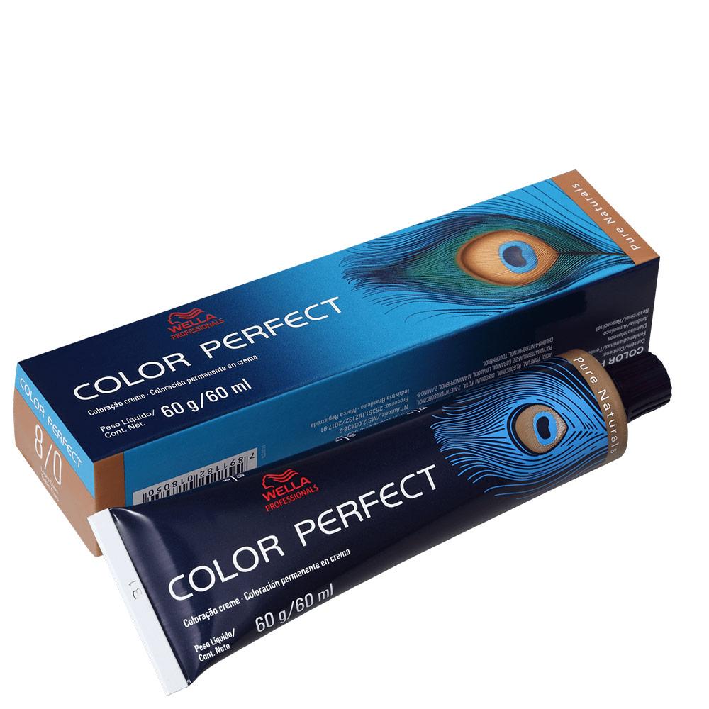 Wella Professionals Color Perfect 8/0 Louro Claro - Coloração Permanente 60g