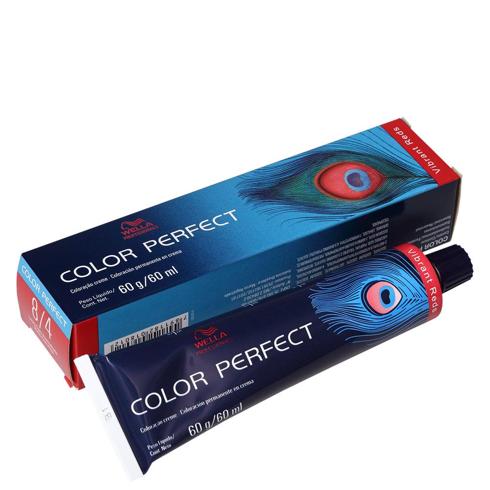 Wella Professionals Color Perfect 8/4 Louro Claro Avermelhado - Coloração Permanente 60g