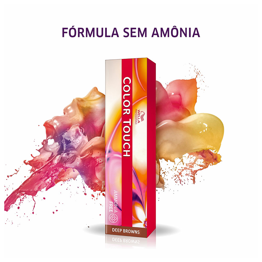 Wella Professionals Color Touch 6/71 Louro Escuro Marrom Acinzentado - Tonalizante 60g