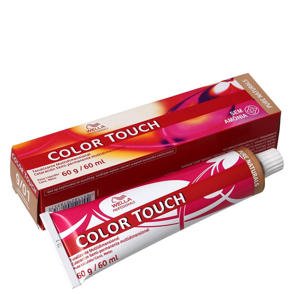 Wella Professionals Color Touch 9/01 Louro Ultraclaro Natural Acinzentado - Tonalizante 60g