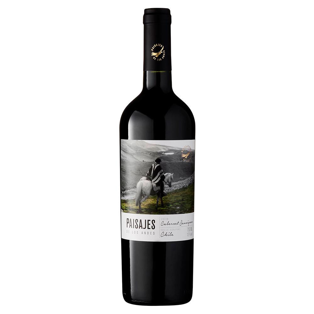 Vinho Chileno Tinto Paisajes de Los Andes Cabernet Sauvignon 2018 Garrafa 750ml