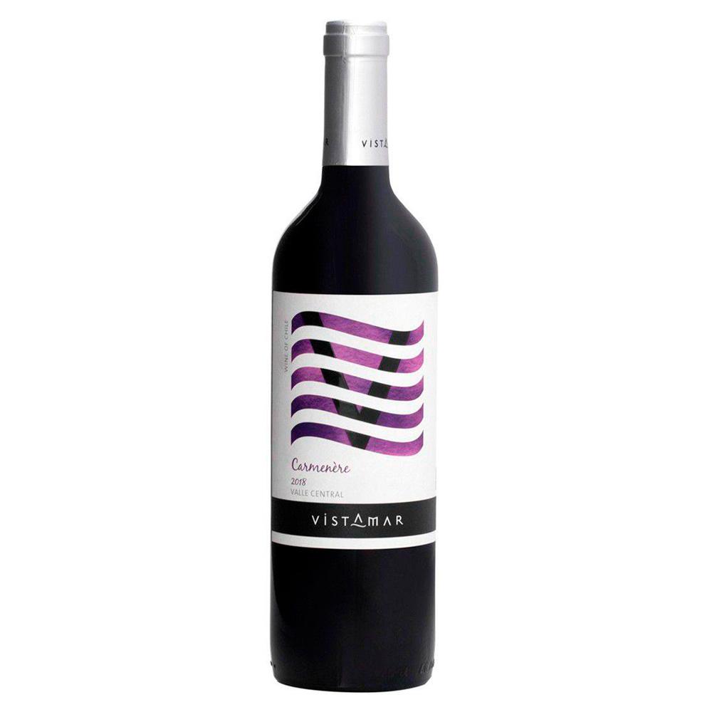 Vinho Chileno Tinto Vistamar V Carménère 2018 Garrafa 750ml