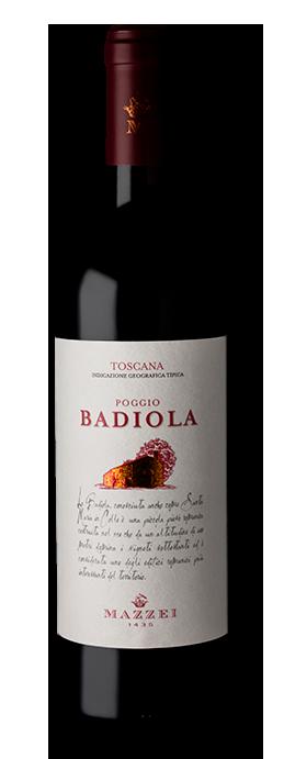 Vinho Italiano Tinto Mazzei Poggio Badiola Rosso Toscana IGT 2018 Garrafa 750ml