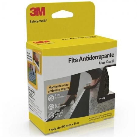 FITA ANTIDERRAPANTE 3M SAFETY-WALK 50MM X 5MTS PRETO